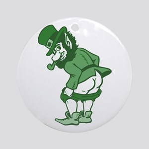 Leprechaun Ornament (Round)