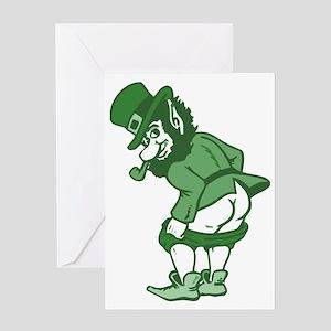 Leprechaun Greeting Card