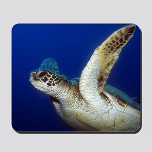 Flying Sea Turtle Mousepad
