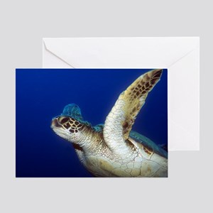 Flying Sea Turtle Greeting Card