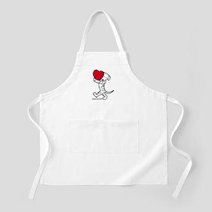 Dalmatian Valentine BBQ Apron