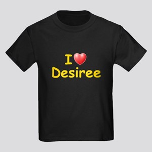 I Love Desiree (L) Kids Dark T-Shirt