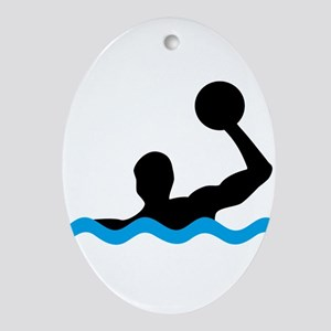waterpolo Oval Ornament
