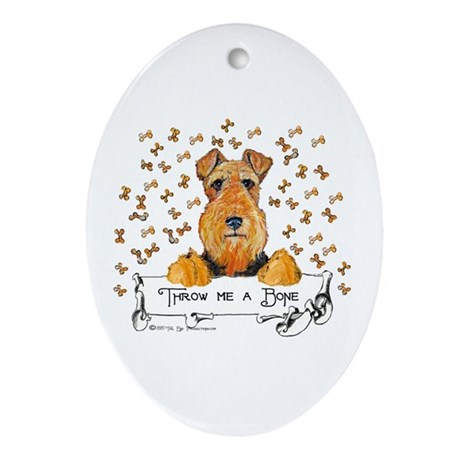 Lakeland Terrier Bone Oval Ornament