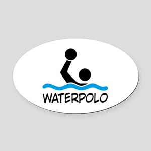 waterpolo Oval Car Magnet