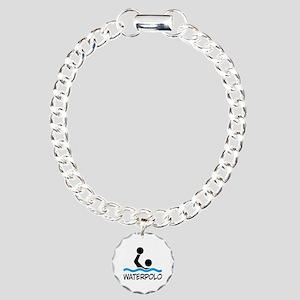 waterpolo Charm Bracelet, One Charm