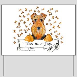 Lakeland Terrier Bone Yard Sign