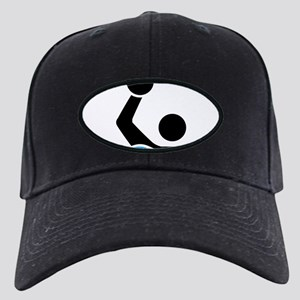 waterpolo Black Cap with Patch