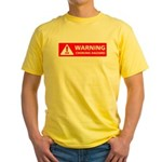 Warning! Choking Hazard Yellow T-Shirt