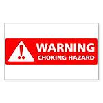 Warning! Choking Hazard Rectangle Sticker
