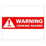 Warning! Choking Hazard Small Poster