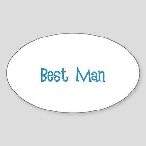 Best Man - Blue Dingo Oval Sticker