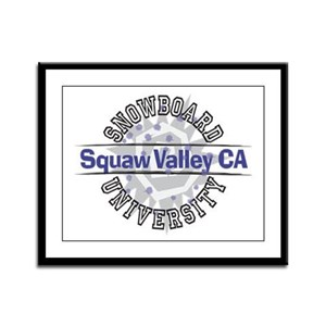 Snowboard Squaw Valley CA Framed Panel Print