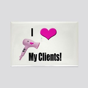 I Love (Heart) My Clients (Pi Rectangle Magnet