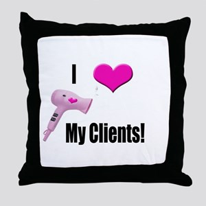 I Love (Heart) My Clients (Pi Throw Pillow