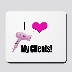 I Love (Heart) My Clients (Pi Mousepad