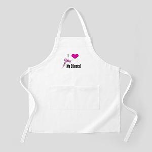 I Love (Heart) My Clients (Pi BBQ Apron