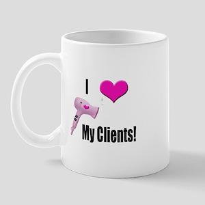 I Love (Heart) My Clients (Pi Mug