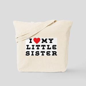 I Love My Little Sister Tote Bag