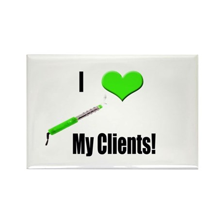 I Love (Heart) My Clients (Gr Rectangle Magnet