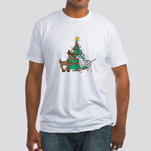 Reindeer & Dalmation Christmas Fitted T-Shirt