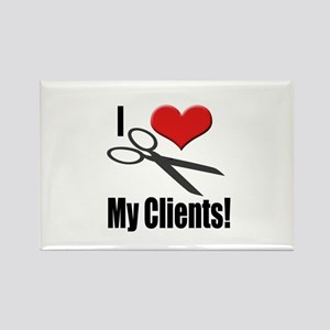 I Love (Heart) My Clients Rectangle Magnet
