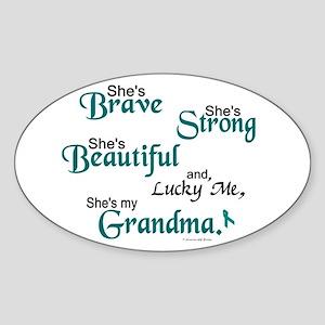 Lucky Me 1 (Grandma OC) Oval Sticker