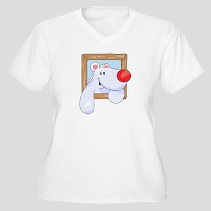 Coming & Going Polar Bear Women's Plus Size V-Neck