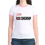 Screw Censorship Jr. Ringer T-Shirt