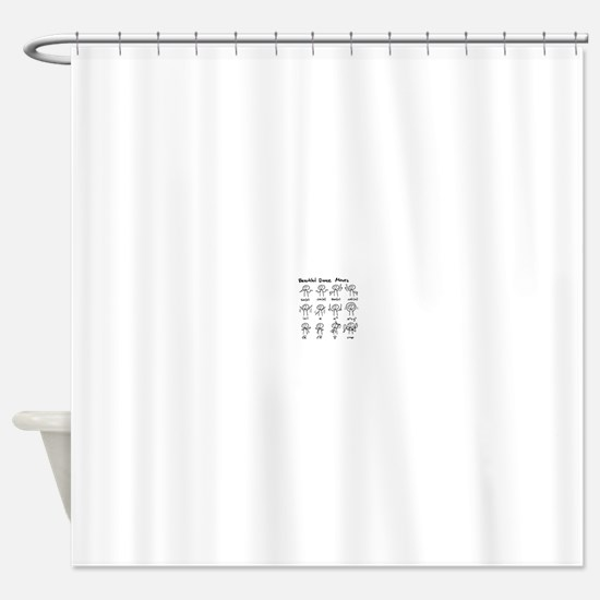 Beautiful (math) dance moves Shower Curtain
