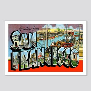 San Francisco California Greetings Postcards (Pack