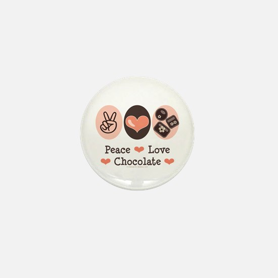 Peace Love Chocolate Mini Button