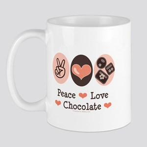 Peace Love Chocolate Mug
