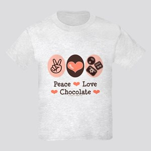 Peace Love Chocolate Kids Light T-Shirt