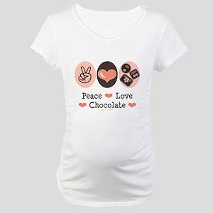 Peace Love Chocolate Maternity T-Shirt