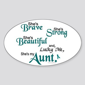 Lucky Me 1 (Aunt OC) Oval Sticker