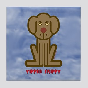 Yippee Dog Tile Coaster
