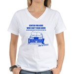 Center For Kids Who Can't Rea Women's V-Neck T-Shi