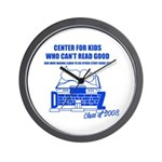 Center For Kids Who Can't Rea Wall Clock