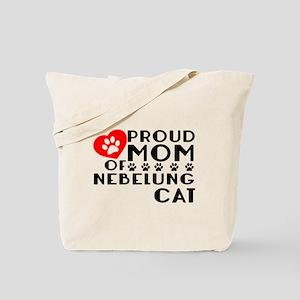 Proud Mom of Nebelung Cat Designs Tote Bag