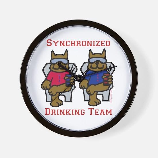 Drink Team Wall Clock