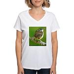 Carolina Wren Women's V-Neck T-Shirt