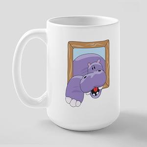 Coming & Going Hippo Large Mug