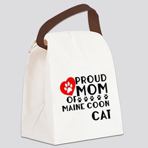 Proud Mom of Maine Coon Cat Desig Canvas Lunch Bag