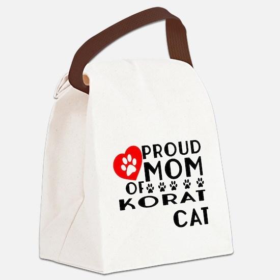 Proud Mom of Korat Cat Designs Canvas Lunch Bag