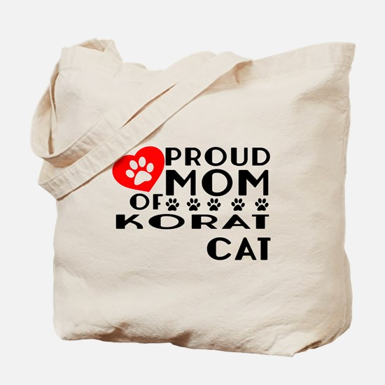 Proud Mom of Korat Cat Designs Tote Bag