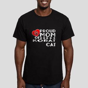 Proud Mom of Korat Cat Men's Fitted T-Shirt (dark)