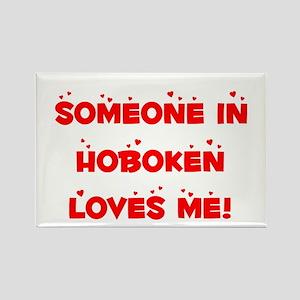 Someone in Hoboken Loves Me Rectangle Magnet