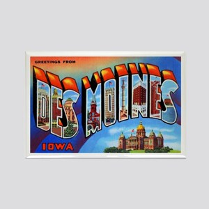 Des Moines Iowa Greetings Rectangle Magnet