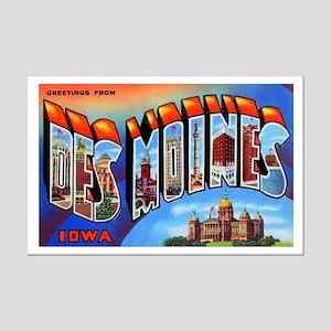 Des Moines Iowa Greetings Mini Poster Print